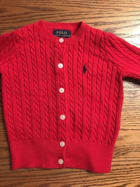 Polo, Ralph Lauren Toddler Girls Size 2T Red Cardigan Sweater | eBay