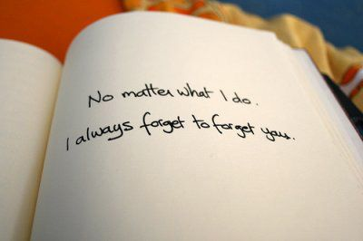 I always forget