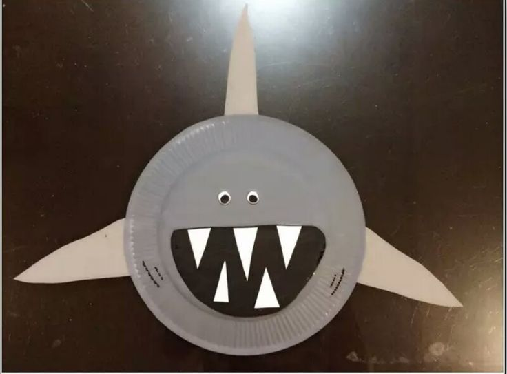 New paper plate idea to try - a shark