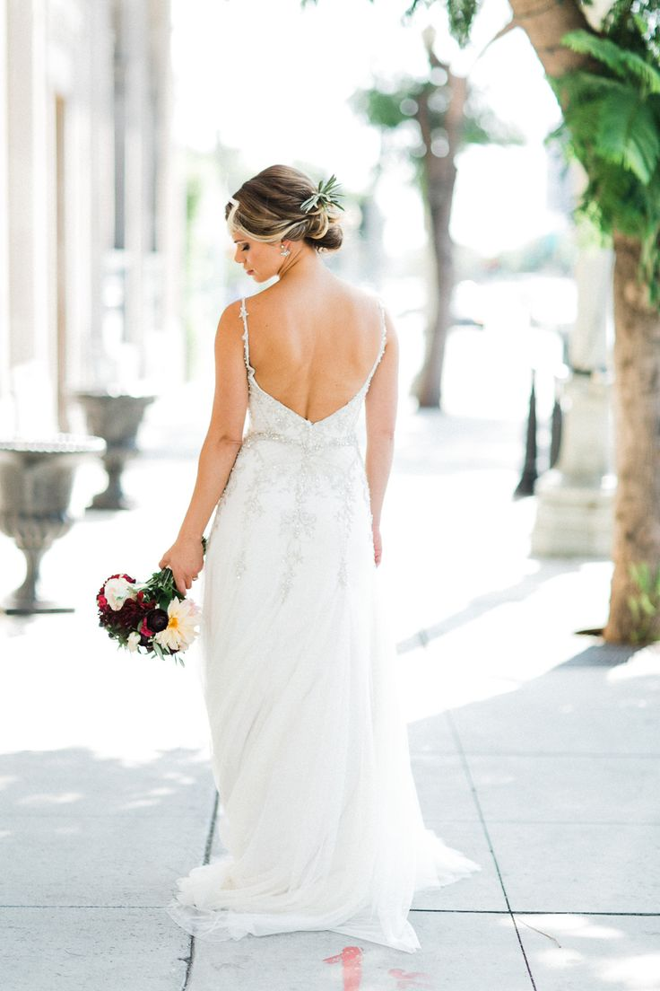wedding locations north california%0A Sierra in her Maggie Sottero Dress at the Culver Hotel in Culver City  California  Photo