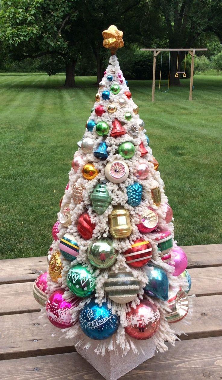 24 inch Bottle Brush Christmas Tree Retro