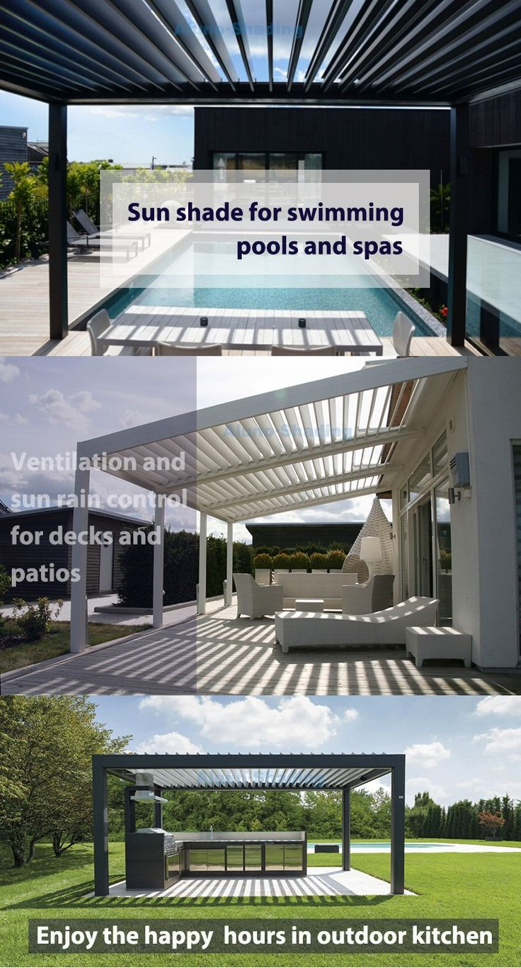 Waterproof Aluminium Pergola Systems With Led Light Buy