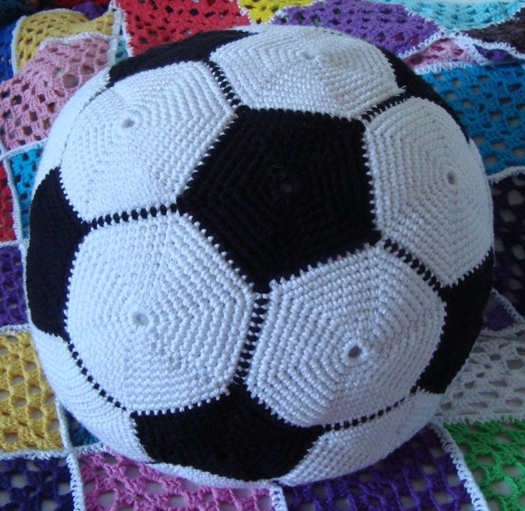 Crochet football / soccer ball for my son