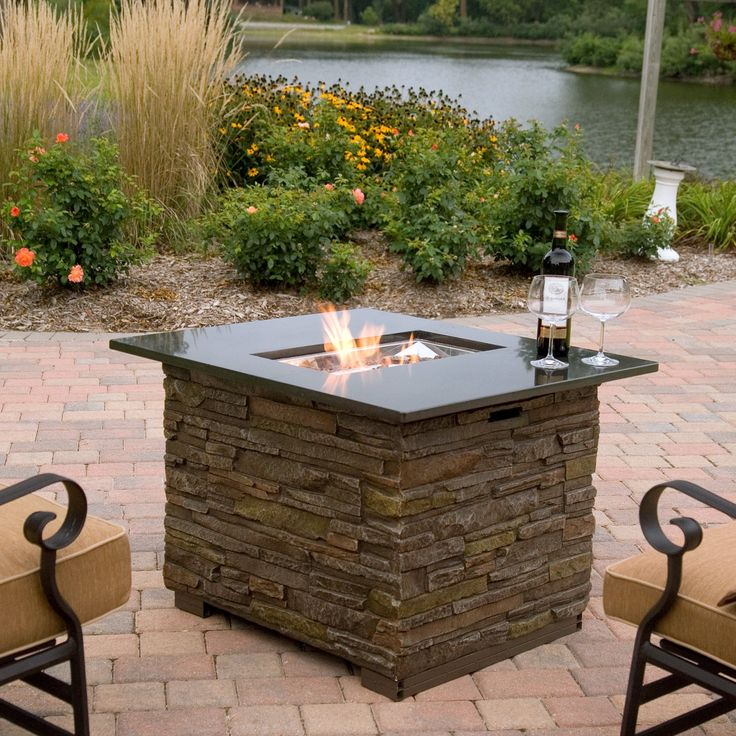 The Newcastle Fire Table Will Make Your Backyard Come Alive. 20 Lb Propane  Tank Stows Underneath, A Cover Is Included. This Popular Fire Table Is On  Sale.