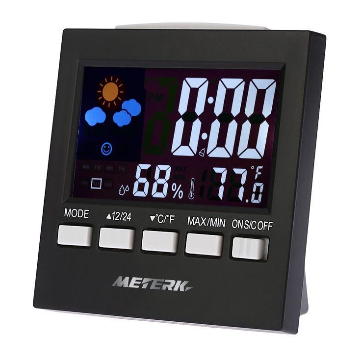 Meterk Multi-functional Digital Colorful LCD Thermometer Sales Online - Tomtop.com