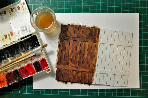 СкрапШейкер: МК по созданию деревянной текстуры от Виктории!