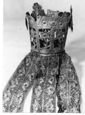 Digitalt Museum - Brudekrone med nakkebånd