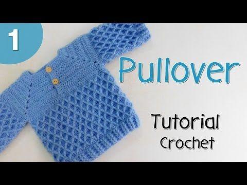 Como tejer un pullover para niño (1/2) - YouTube