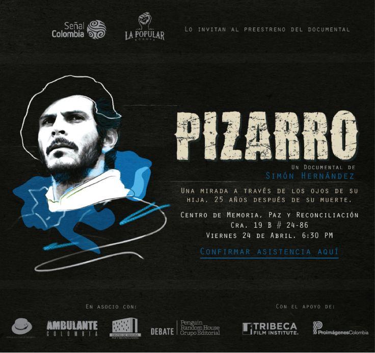Ambulante Presenta Pizarrro,el documental del joven director colombiano Simón Hernández, como preámbulo al estreno nacional que Señal Colombia - coproductora del film- hará el domingo 26 de abril cuando se cumplen 25 años desde el asesinato de Carlos Pizaro. #Pizarro25años