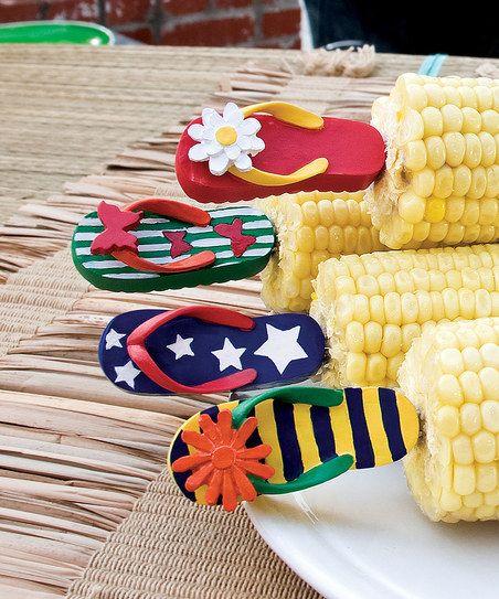 Flip-Flop Corn Holder Set