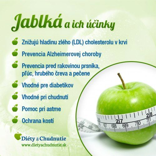 Jablká a ich účinky na chudnutie a zdravie človeka