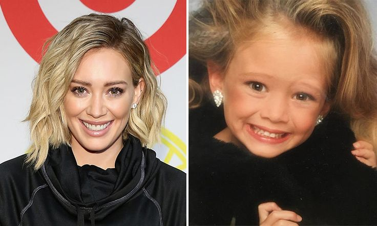 Hilary Duff  <br>    A smile as bright as day! Baby Hilary looks glamorous no matter what age.   Photo: Getty and Twitter/@HilaryDuff