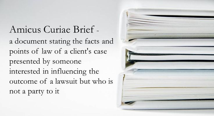 WORD OF THE WEEK: Amicus Curiae Brief, a friend of the court
