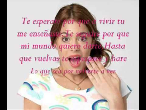 Martina Stoessel - Te Esperare Con Letra - YouTube