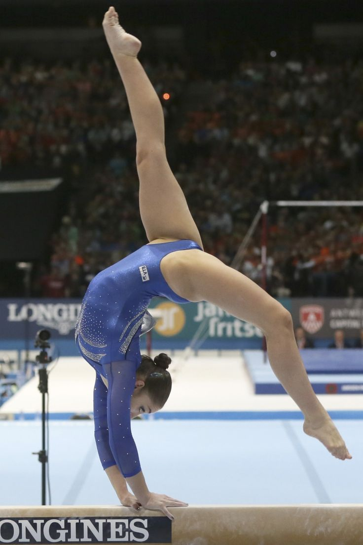 Gold medallist Aliya Mustafina of Russia competes on the balance beam during the apparatus final at the Artistic Gymnastics World Championships in Antwerp, Belgium on Sunday, Oct. 6, 2013.