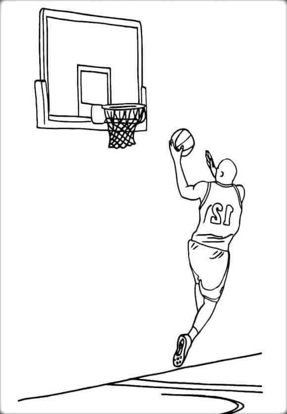 Coloring Page Basketball Free In 2020 Free Basketball Sports Coloring Pages Coloring Pages
