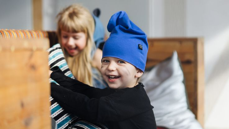 Cap SKY - Pan Pantaloni Summer Tribes 2015 collection. Beanie-style cap made of delicate cotton. #summer #fashion #kids