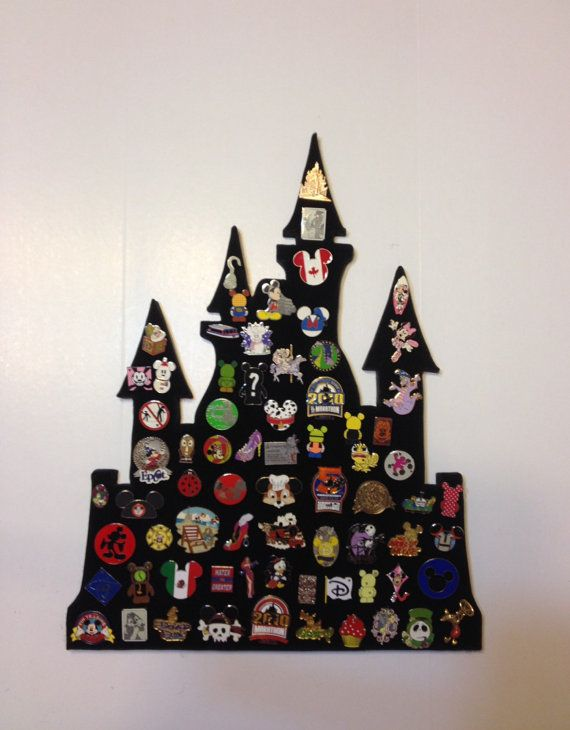 Pin castle Disney pin trading display by PinDisplaysPlus on Etsy