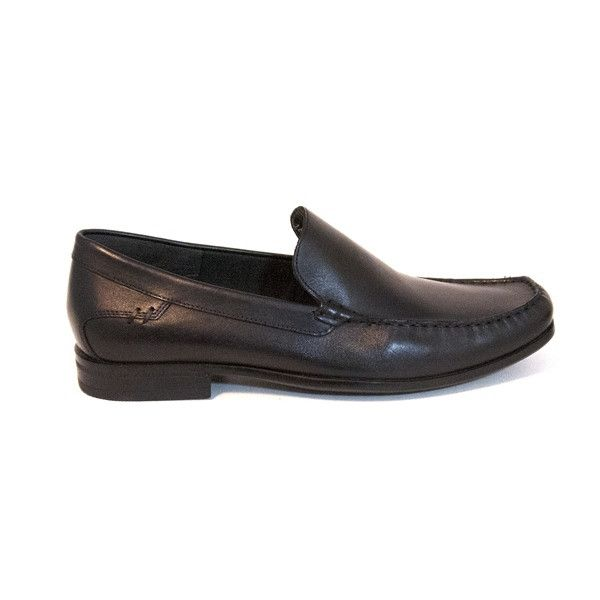 Hush Puppies Circuit Slip-On - Black Leather Loafer