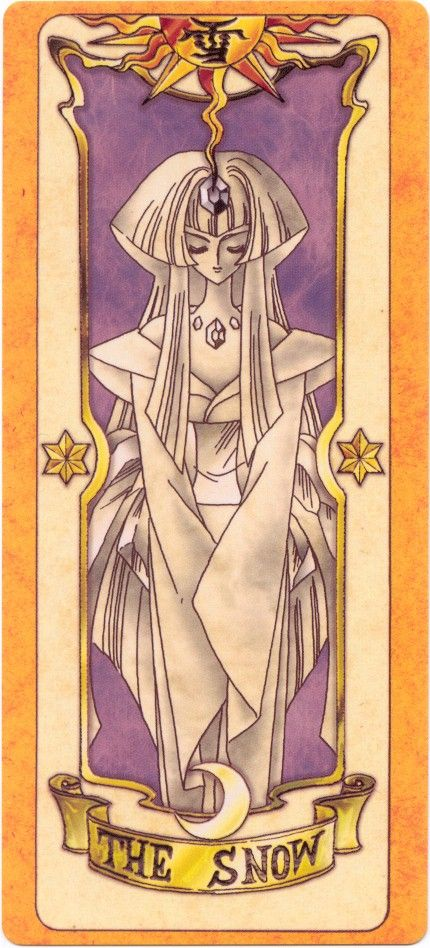 The Snow Clow Card from Cardcaptor Sakura  I drew this once in art