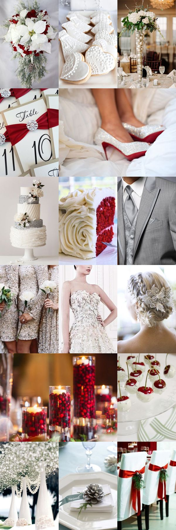 Festive Christmas Wedding Inspiration Board                                                                                                                                                                                 More
