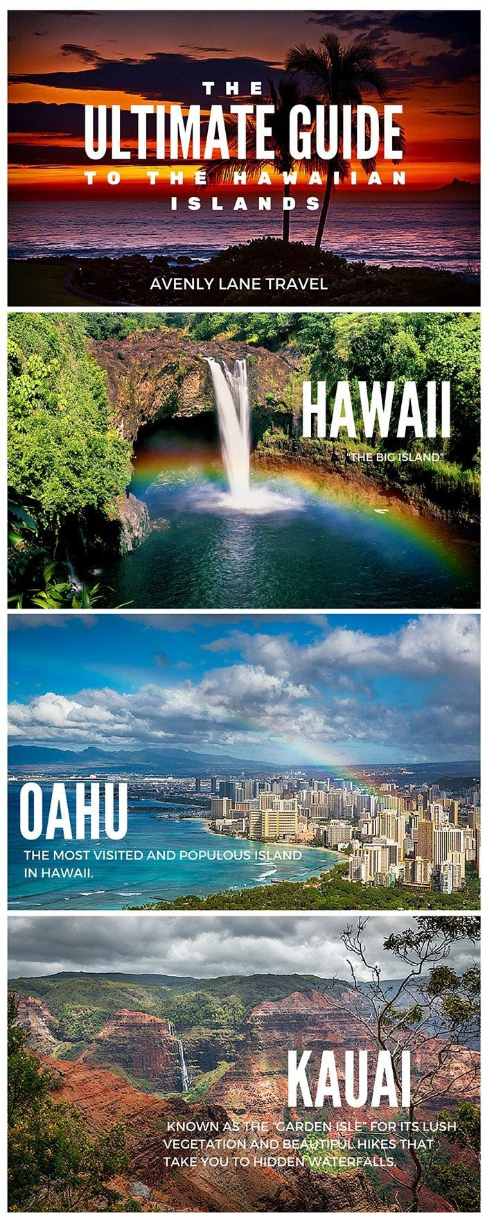 The Ultimate Guide to all of the Hawaiian Islands! Click through to Avenly Lane Travel to read more!