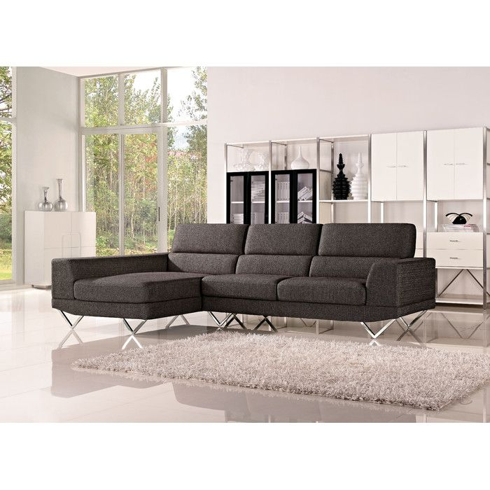 good quality living room furniture%0A The Drake sectional sofa is sure to make a strong design statement in your living  room or media room  This sectional features crisp clean lines accented