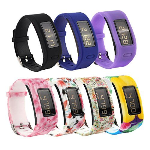 Tkasing Colorful Silicone Replacement Accessory Wrist Bands For Garmin Vivofit Only 7 Colors B