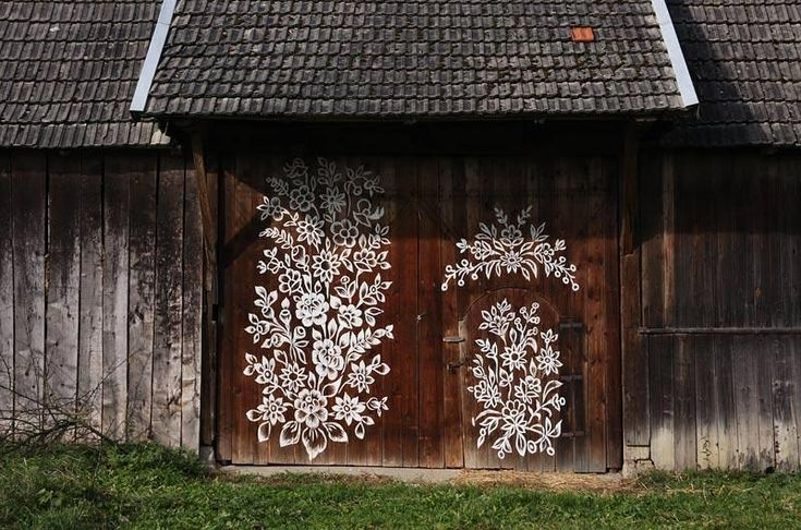 """Known as the """"Painted Village,"""" Zalipie is covered in cheery floral patterns inside and outside of the small houses. It is renown as the center of Polish decorative folk art."""