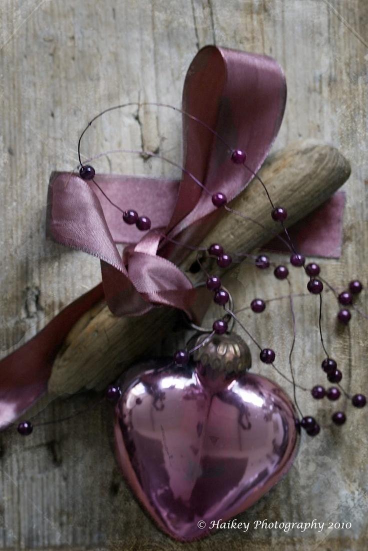 Plum heart ornament