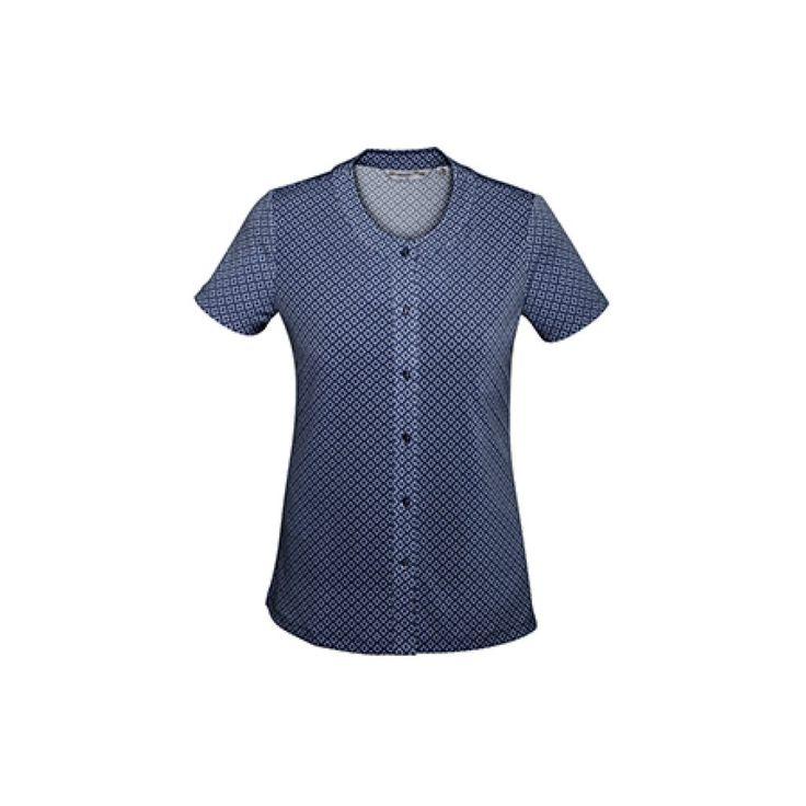 BIZ Corporates Advatex Ladies' Leah Button Top – AC42912