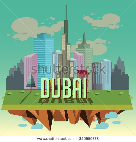 dubai city. vector illustration - stock vector