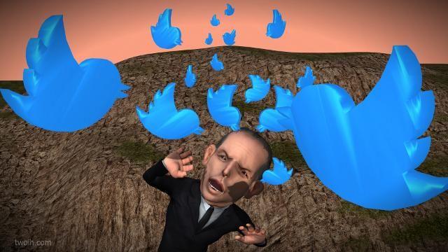 "Tony Abbott in Alfred Hitchcocks "" The (Blue) Birds ""   #twitterati #auspol #canningvotes #canning"