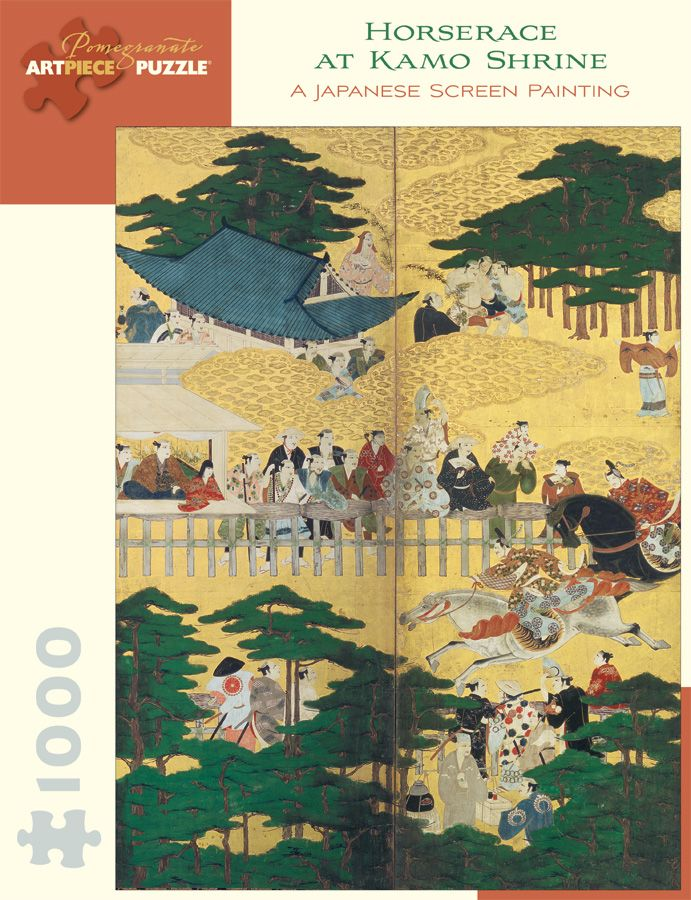 Horserace at Kamo Shrine 1,000-piece Jigsaw Puzzle.  I bought this at the museum recently.  These puzzles are so cool.  You get a great piece of art for the wall, and you get to play with it first!  But it turns out, it was twice the price at the museum :(  So buy online!  It is a fun way to really study the art in depth.  And I really need something to do since I stopped knitting.