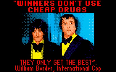 Loading screen from Tumba Games' Brutal Battle. The guys are Ron Wood and Keith Moon.
