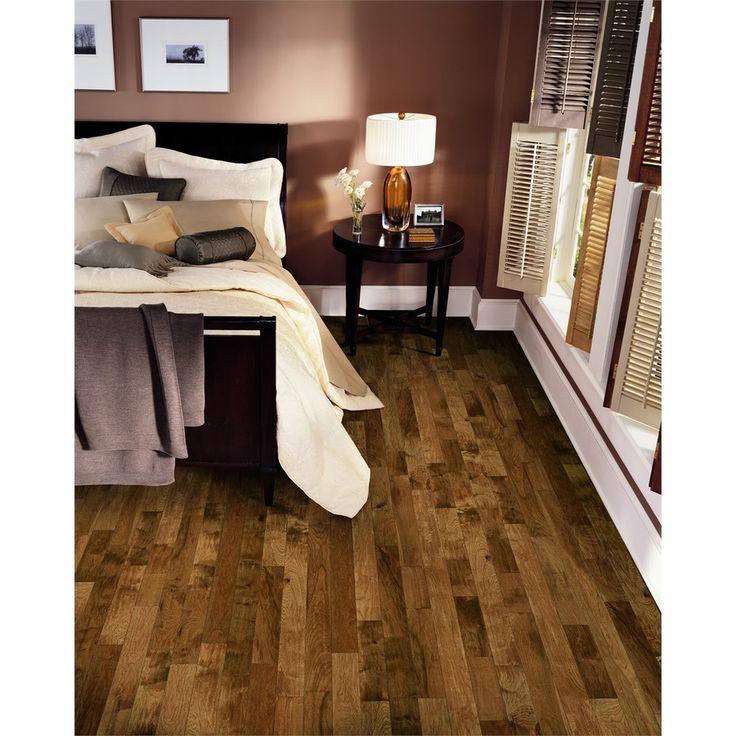 shop bruce best choice 325in w prefinished hickory hardwood flooring yukon gold