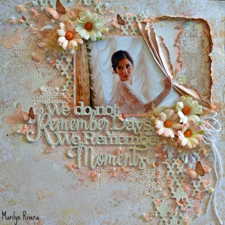 Wedding -Shabby Chic/Mixed Media Scrapbooking Layout