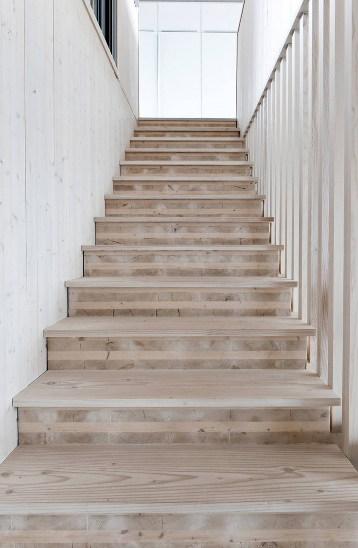 Whitewashed or lime washed timber stairs? Yes please!  #milkpaint #mmsmpaustralia #forthelovecreatons