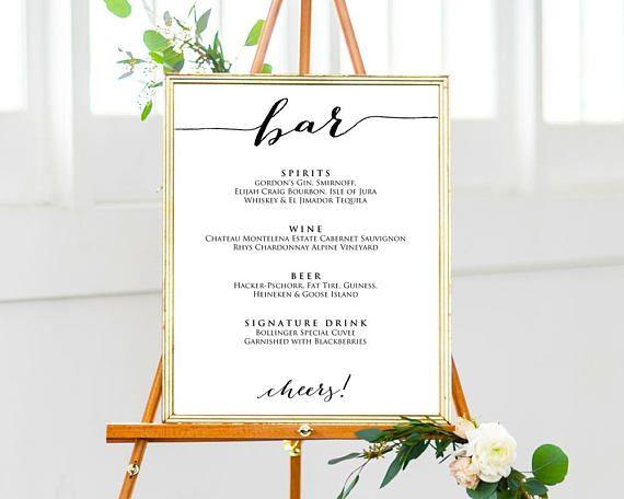 Bar Sign Bar Sign Wedding Bar Sign Personalized Bar Sign