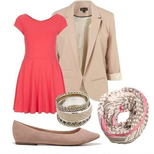 combination of clothes accessories fashion  http://www.womans-heaven.com/coral-dress-accessories-combination/