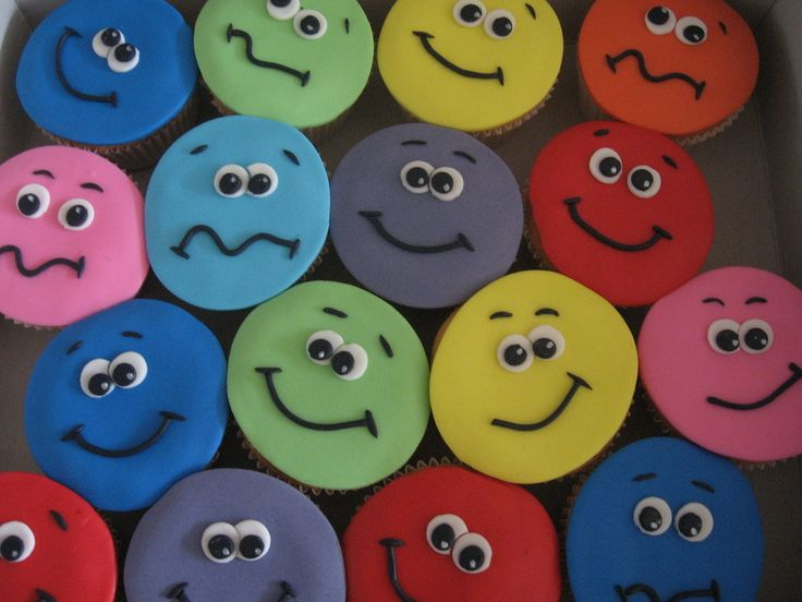 colourfull smileys for my sons birthday