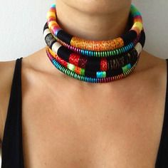 Reine choker, collier tribal, choker collier, bijoux africain, aztèques collier