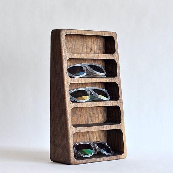Wood Eyewear Stand by BushakanSF on Etsy #organization #style #decor