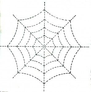 Vintage Crafts and More - Halloween Spider Web Quilting Pattern
