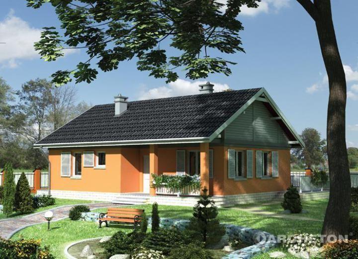 Proiecte de case mici cu 2 dormitoare practice