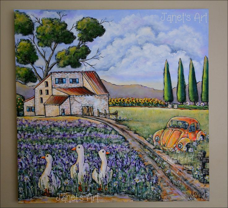 Lavender farm - Janet's Art janet1bester@gmail.com