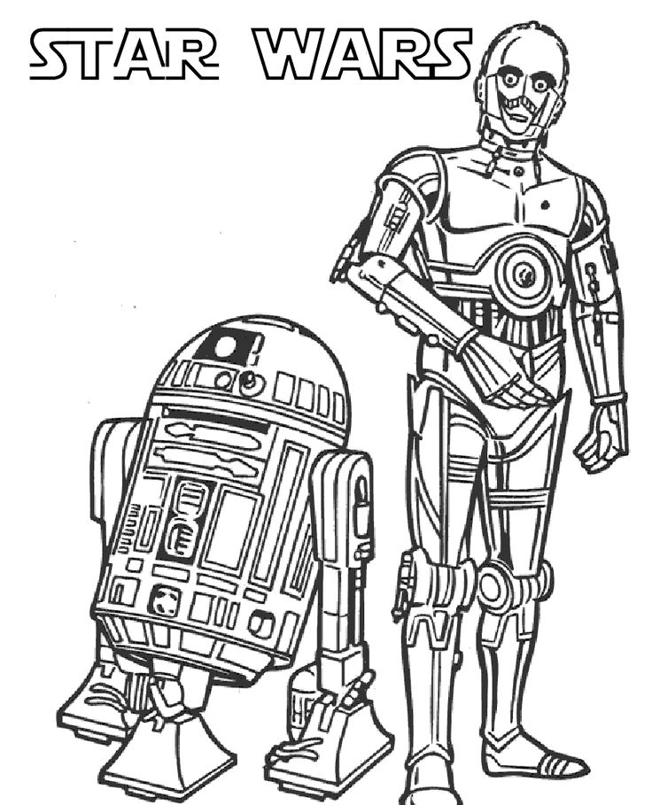 Robot soldiers star wars coloring pages