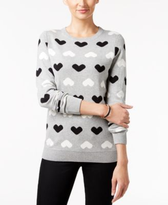 Charter Club Heart Sweater, Only at Macy's | macys.com
