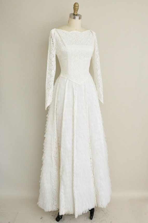 1950s white lace wedding dress. Please visit our website @ http://jewishhloidays2015.com