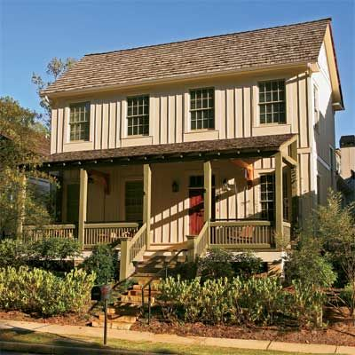 All about fiber cement siding cream house and vertical for Rustic board and batten homes